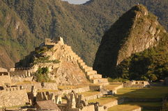 Central square from Machu Picchu  Stock Photography