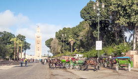 Central square of Marrakech Stock Images