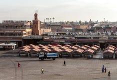 Central square of Marrakech Stock Photos
