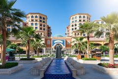 Central square in the Medina Centrale district on the Pearl in Doha Stock Photos
