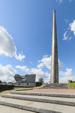 Central square of the memorial complex Brest Fortress. Stock Photography