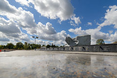 Central square of the memorial complex Brest Fortress. Royalty Free Stock Photos