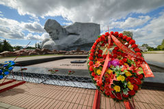 Central square of the memorial complex Brest Fortress. Royalty Free Stock Photo