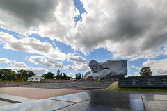 Central square of the memorial complex Brest Fortress. Royalty Free Stock Images
