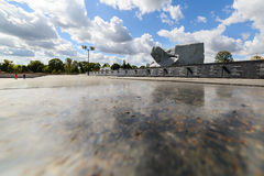 Central square of the memorial complex Brest Fortress. Stock Images