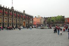 Historical centre in Mexico city. Royalty Free Stock Images