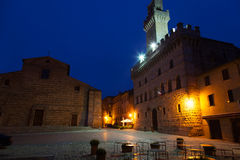 Central square in Montepulciano Royalty Free Stock Photo
