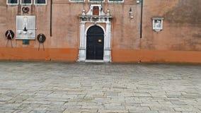 Central square and monument Baldassare Galuppi-Il Buranello-in Burano, Italy 1 stock footage