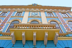 Central square. Municipality of the city, Chernivtsi. Western Ukraine. Central square. Municipality of the city. Architecture in the old town Chernivtsi. Western royalty free stock photo