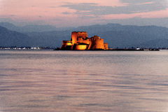 Fortress in the sea, Nafplio, Greece Royalty Free Stock Image