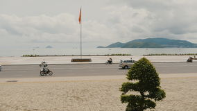 Central square in Nha Trang Sea View. Vietnam. stock video footage