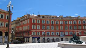 Central Square in Nice, France. Central Square in the old-town area of the Nice city, France royalty free stock photos