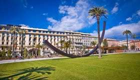 Central Square in Nice, France . Royalty Free Stock Images
