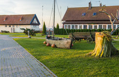 Central square in Nida, Lithuania Royalty Free Stock Image
