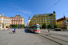 Central square in old city of Brno Royalty Free Stock Photos