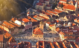 The central square of the old town. Brasov. Transylvania. Stock Images