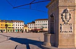 Central square in Palmanova landmarks view, Royalty Free Stock Photos
