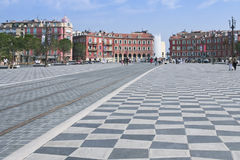 Central Square Place Massen Nice France Royalty Free Stock Image