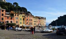 Central square, Portofino, Liguria, Italy Stock Photography