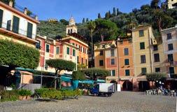 Central square, Portofino, Liguria, Italy Stock Image