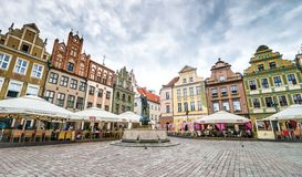 The central square of Poznan Stock Photography