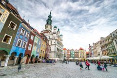 The central square of Poznan Royalty Free Stock Photography