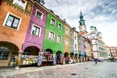 The central square of Poznan Royalty Free Stock Images
