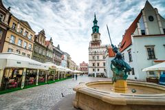 The central square of Poznan Royalty Free Stock Photo