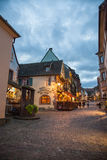Central square in Riquewihr town, France Royalty Free Stock Photography