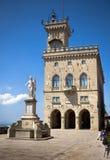 Central square of San Marino Stock Image