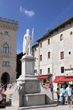 Central square of San Marino, Italy stock image