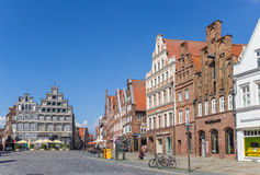 Central square Am Sande in the historic old town of Luneburg Stock Image