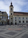 Central square in Sibiu Stock Photography