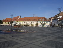Central square in Sibiu Royalty Free Stock Photography