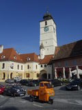 Central square in Sibiu Royalty Free Stock Image