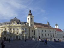 Central square in Sibiu Stock Photo