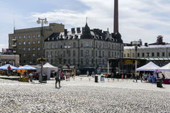 Central square. Tampere's central square in Finland stock photo