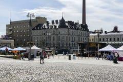 Central square stock photo