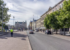 Central square. Tampere's central square in western Finland stock images