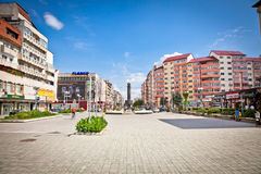Central square of Targoviste,  (Tirgoviste), Romania. Royalty Free Stock Photos