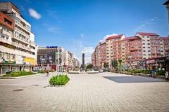 Central square of Targoviste,  (Tirgoviste), Romania. Royalty Free Stock Photos