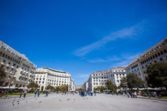 Central square of Thessaloniki, Greece Royalty Free Stock Photo