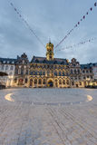 The central square and town hall in Mons, Belgium. The central square and town hall in Mons, capital of the Wallonian province of Hainaut in Belgium royalty free stock photo