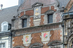 The central square and town hall in Mons, Belgium. The central square and town hall in Mons, capital of the Wallonian province of Hainaut in Belgium royalty free stock photography