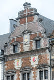 The central square and town hall in Mons, Belgium. The central square and town hall in Mons, capital of the Wallonian province of Hainaut in Belgium stock photography