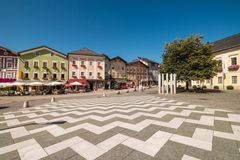 Central square of the town Mondsee, Austria Royalty Free Stock Photography