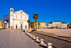 Central square in town of Palmanova church view. Friuli Venezia Giulia region of Italy Royalty Free Stock Photo