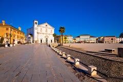 Central square in town of Palmanova church view. Friuli Venezia Giulia region of Italy Stock Photography