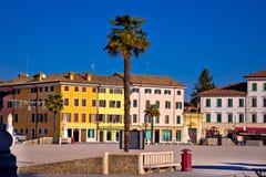 Central square in town of Palmanova colorful architecture view. Friuli Venezia Giulia region of Italy Stock Photography