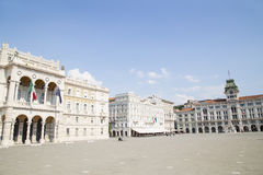 Central square in Trieste Stock Images